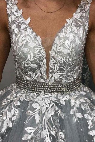 Fabulous Spaghetti Straps Tulle A-line Prom Dress_3