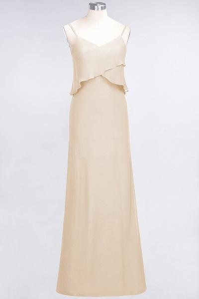 A-Line Chiffon Spaghetti-Straps V-Neck Sleeveless Floor-Length Bridesmaid Dress_14