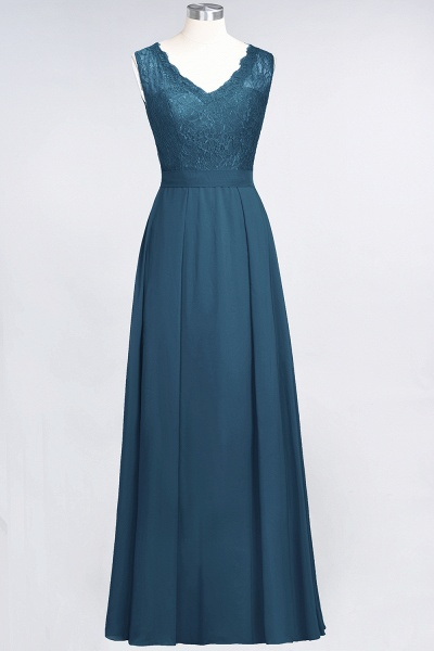 A-Line Chiffon Lace V-Neck Sleeveless Floor-Length Bridesmaid Dress_26