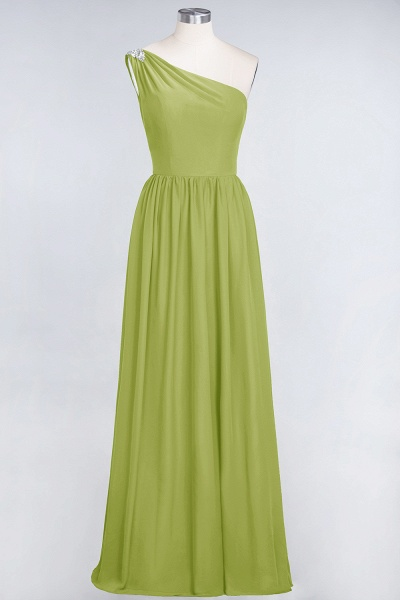 A-Line Chiffon One-Shoulder Sleeveless Ruffles Floor-Length Bridesmaid Dress with Beadings_32