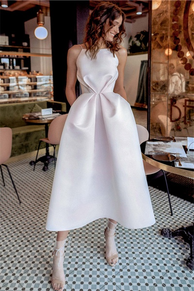Fascinating Spaghetti Straps A-line Prom Dress_1