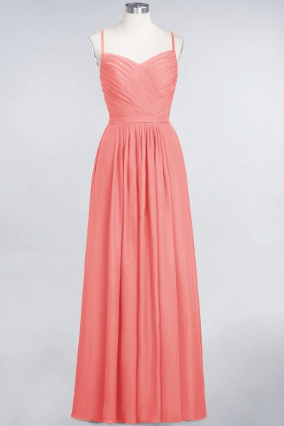 A-Line Chiffon Spaghetti-Straps Sweetheart Sleeveless Floor-Length Bridesmaid Dress with Ruffles_7