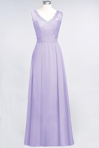 A-Line Chiffon Lace V-Neck Sleeveless Floor-Length Bridesmaid Dress_20