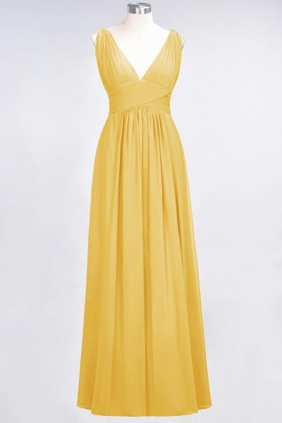 A-Line Chiffon V-Neck Sleeveless Floor-Length Bridesmaid Dress with Ruffle_16