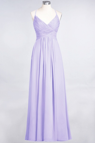 A-Line Chiffon Spaghetti-Straps V-Neck Sleeveless Floor-Length Bridesmaid Dress with Ruffles_20