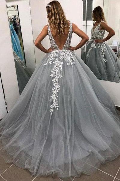 Fabulous Spaghetti Straps Tulle A-line Prom Dress_2
