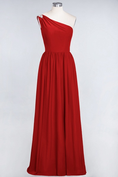 A-Line Chiffon One-Shoulder Sleeveless Ruffles Floor-Length Bridesmaid Dress with Beadings_8