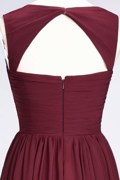 BM0420 Burgundy Simple Cap Sleeves Sweetheart Bridesmaid Dress_12