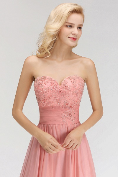 BM0083 Sexy Sweetheart A-Line Appliques Long Bridesmaid Dress_5