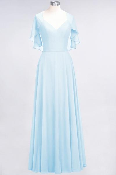 A-Line Chiffon Satin V-Neck short-sleeves Floor-Length Bridesmaid Dress_22