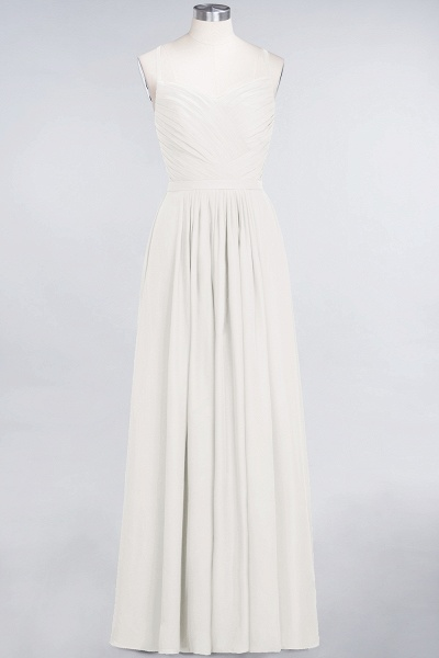 A-Line Chiffon Spaghetti-Straps Sweetheart Sleeveless Floor-Length Bridesmaid Dress with Ruffles_2
