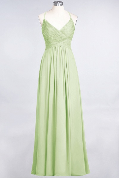 A-Line Chiffon Spaghetti-Straps V-Neck Sleeveless Floor-Length Bridesmaid Dress with Ruffles_33