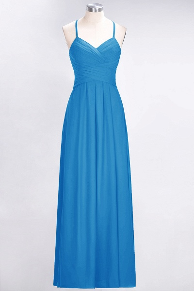 A-Line Chiffon Halter V-Neck Sleeveless Floor-Length Bridesmaid Dress with Ruffles_24
