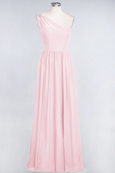 A-Line Chiffon One-Shoulder Sleeveless Ruffles Floor-Length Bridesmaid Dress with Beadings_3