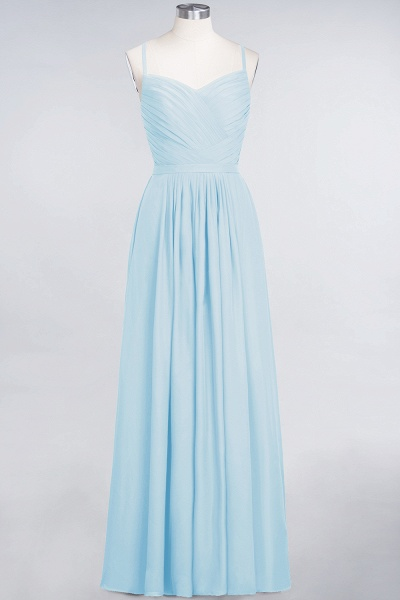 A-Line Chiffon Spaghetti-Straps Sweetheart Sleeveless Floor-Length Bridesmaid Dress with Ruffles_22