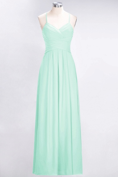 A-Line Chiffon Halter V-Neck Sleeveless Floor-Length Bridesmaid Dress with Ruffles_34