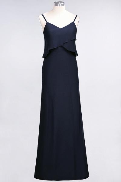 A-Line Chiffon Spaghetti-Straps V-Neck Sleeveless Floor-Length Bridesmaid Dress_27