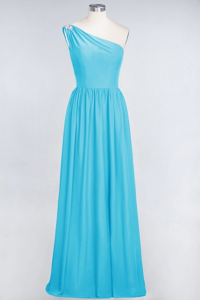 A-Line Chiffon One-Shoulder Sleeveless Ruffles Floor-Length Bridesmaid Dress with Beadings_23