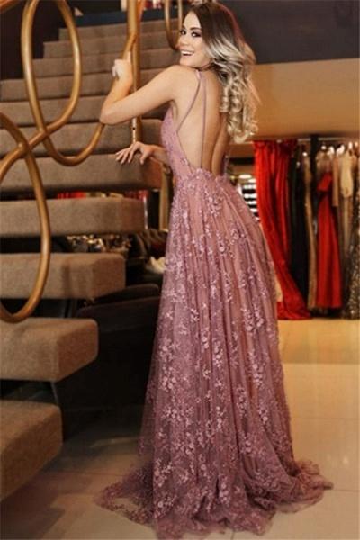 Attractive Spaghetti Straps Appliques A-line Prom Dress_2