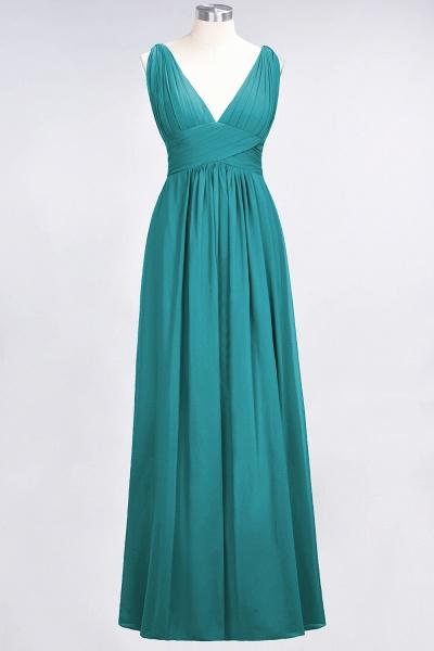 A-Line Chiffon V-Neck Sleeveless Floor-Length Bridesmaid Dress with Ruffle_31