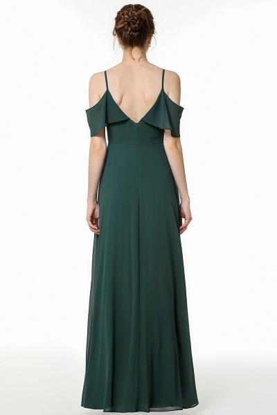 BM0826 Simple Spaghetti Straps Open Back Long Bridesmaid Dress_2