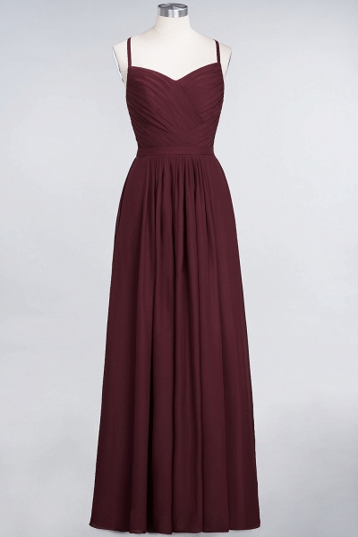 A-Line Chiffon Spaghetti-Straps Sweetheart Sleeveless Floor-Length Bridesmaid Dress with Ruffles_10