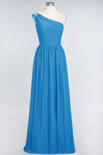 A-Line Chiffon One-Shoulder Sleeveless Ruffles Floor-Length Bridesmaid Dress with Beadings_24