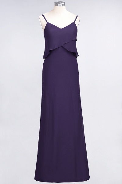 A-Line Chiffon Spaghetti-Straps V-Neck Sleeveless Floor-Length Bridesmaid Dress_18