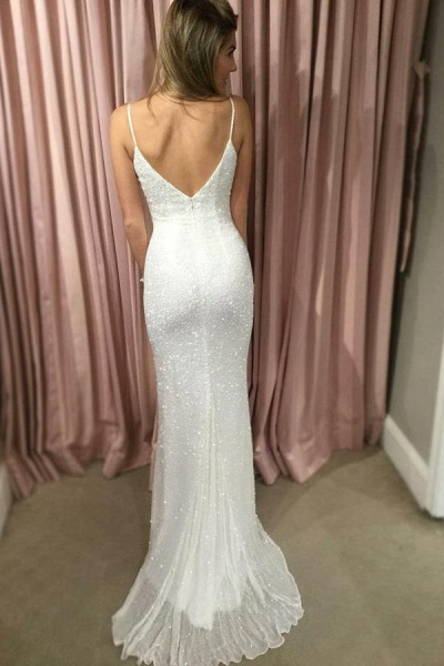 Chic Spaghetti Straps Mermaid Prom Dress_2