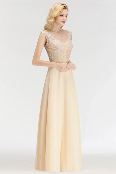 BM0074 Elegant A-Line Champagne Sleeveless Crystal Jewel Bridesmaid Dress_5