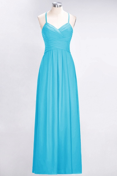 A-Line Chiffon Halter V-Neck Sleeveless Floor-Length Bridesmaid Dress with Ruffles_23