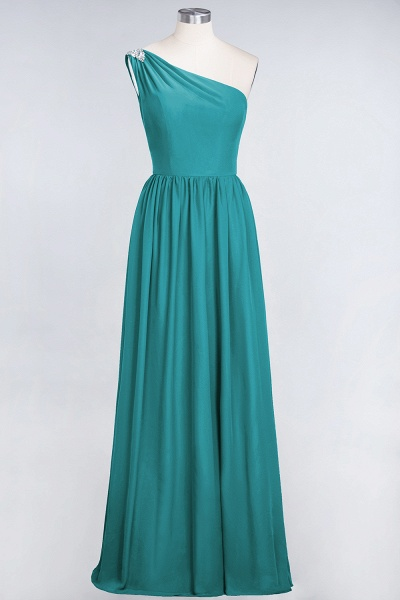 A-Line Chiffon One-Shoulder Sleeveless Ruffles Floor-Length Bridesmaid Dress with Beadings_31