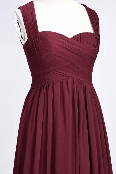 BM0420 Burgundy Simple Cap Sleeves Sweetheart Bridesmaid Dress_11