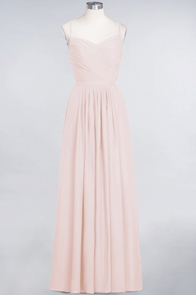 A-Line Chiffon Spaghetti-Straps Sweetheart Sleeveless Floor-Length Bridesmaid Dress with Ruffles_5