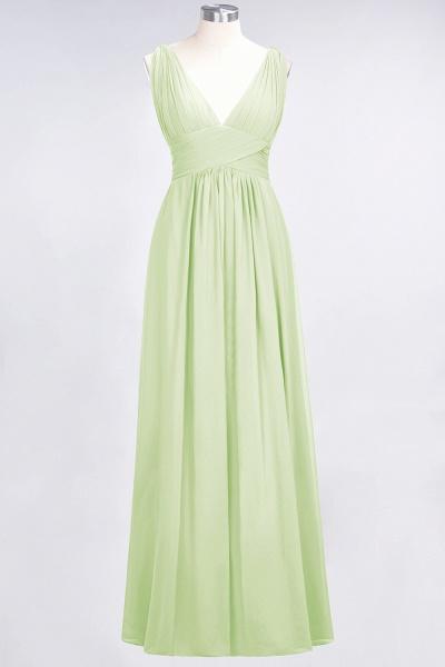 A-Line Chiffon V-Neck Sleeveless Floor-Length Bridesmaid Dress with Ruffle_33