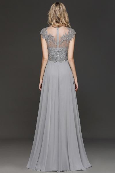 BM0755 Crystal Appliques Sweetheart Cap sleeves Side Slit Bridesmaid Dress_2