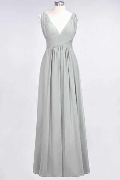A-Line Chiffon V-Neck Sleeveless Floor-Length Bridesmaid Dress with Ruffle_29