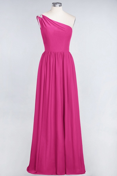 A-Line Chiffon One-Shoulder Sleeveless Ruffles Floor-Length Bridesmaid Dress with Beadings_9