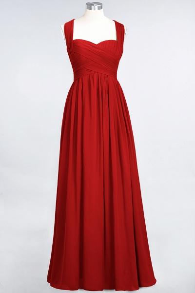BM0420 Burgundy Simple Cap Sleeves Sweetheart Bridesmaid Dress_8