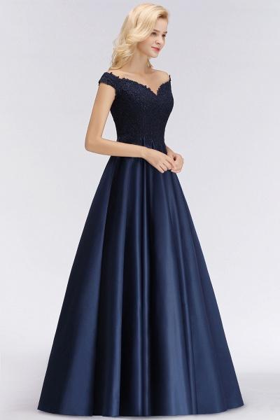 BM0067 Elegant Off-the-Shoulder Ruffles Beads Sleeveless Bridesmaid Dress_6