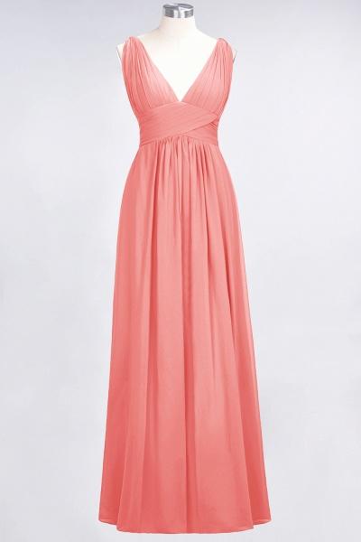 A-Line Chiffon V-Neck Sleeveless Floor-Length Bridesmaid Dress with Ruffle_7