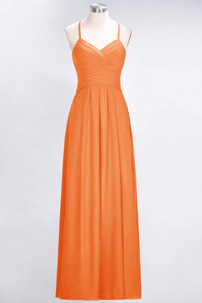 A-Line Chiffon Halter V-Neck Sleeveless Floor-Length Bridesmaid Dress with Ruffles_15