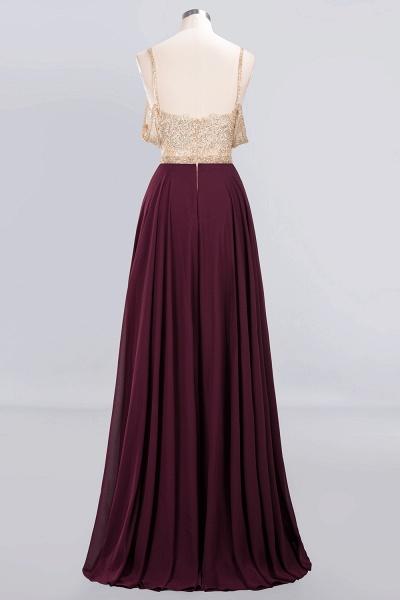 BM0761 Appliques Spaghetti Straps A-line Bridesmaid Dress_7