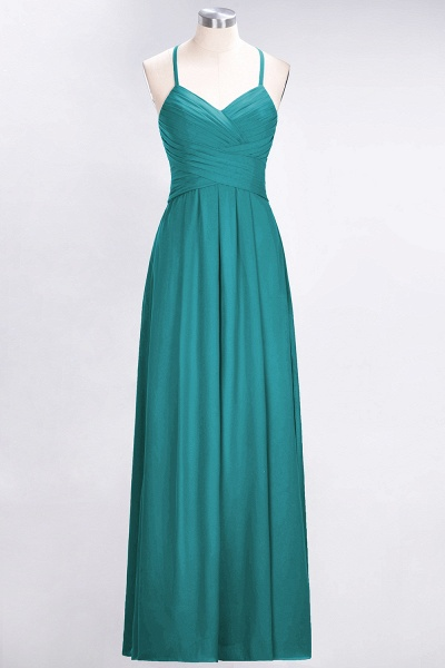 A-Line Chiffon Halter V-Neck Sleeveless Floor-Length Bridesmaid Dress with Ruffles_31