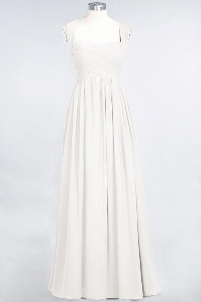BM0420 Burgundy Simple Cap Sleeves Sweetheart Bridesmaid Dress_2