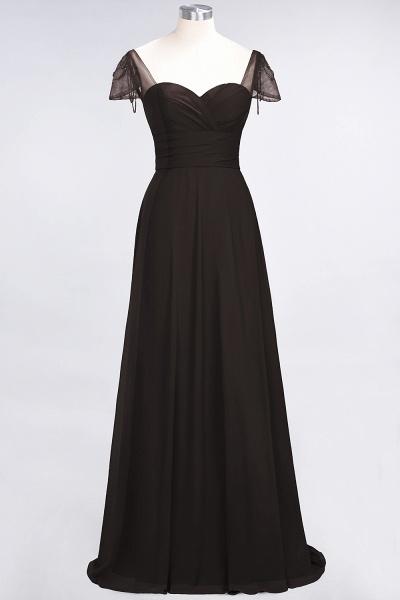 A-Line Chiffon Sweetheart Cap-Sleeves Ruffle Floor-Length Bridesmaid Dress with Beadings_11