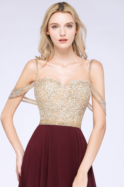 BM0761 Appliques Spaghetti Straps A-line Bridesmaid Dress_3