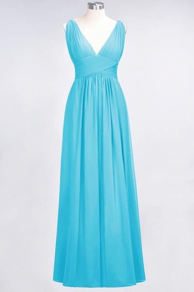 A-Line Chiffon V-Neck Sleeveless Floor-Length Bridesmaid Dress with Ruffle_23