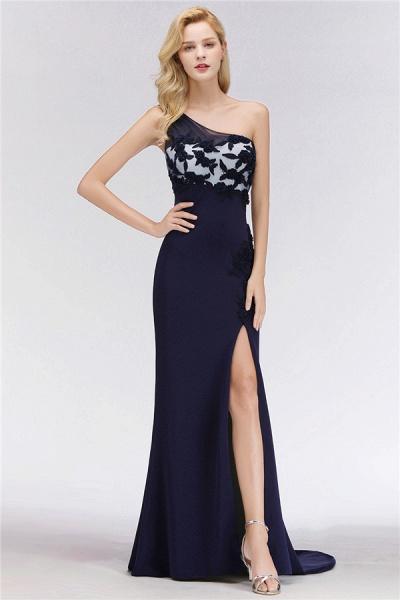 BM0085 Simple Side Split One-Shoulder Sleeveless Mermaid Bridesmaid Dress_1