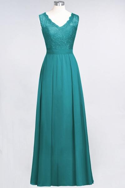 A-Line Chiffon Lace V-Neck Sleeveless Floor-Length Bridesmaid Dress_31